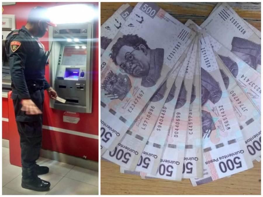 Policía devuelve dinero que se encontró en cajero