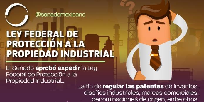 Senado aprueba Ley Federal de Protección a la Propiedad Industrial
