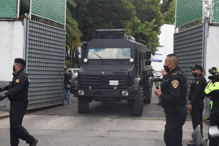 Trasladan a involucrados en ataque a García Harfuch
