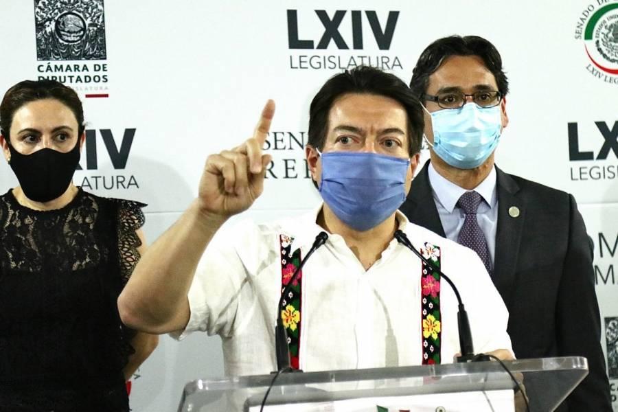 Acusa Mario Delgado a oposición de planear estrategia para no avalar sesión extraordinaria