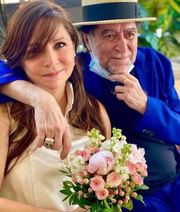 En ceremonia íntima, Joaquín Sabina se casa con Jimena Coronado
