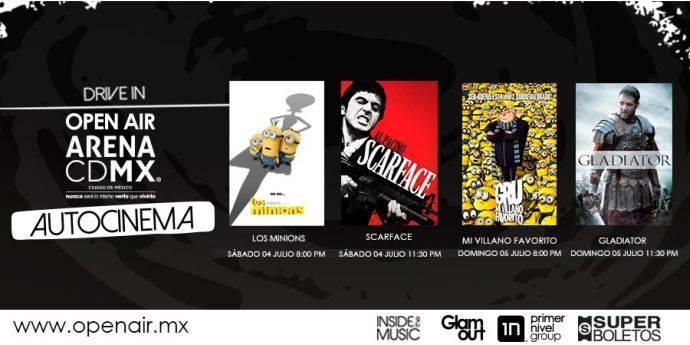 Autocinemas, autoshows y autoteatro en la Arena CDMX
