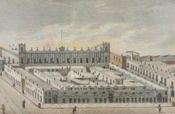 El mercado del Parián en el Zócalo de la ciudad
