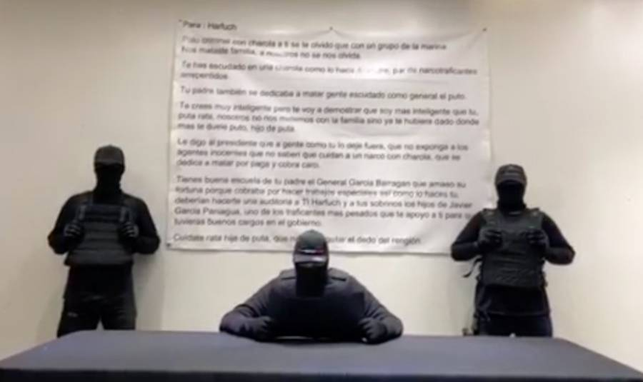 Grupo delictivo lanza nueva amenaza a Harfuch