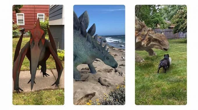 Google habilita función para ver dinosaurios en realidad aumentada
