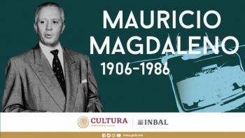 Mauricio Magdaleno, la voz original de la Hora Nacional