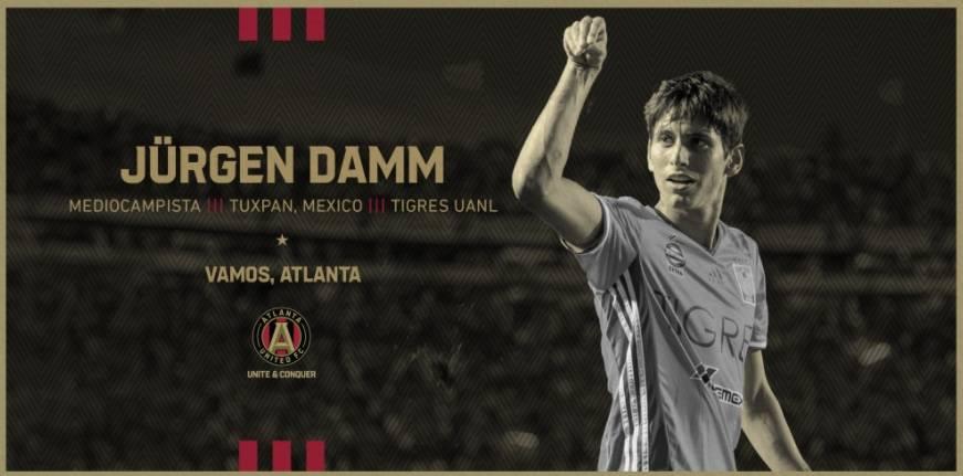 Oficial: Jurgen Damm, nuevo jugador del Atlanta United