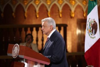 AMLO: Mi gobierno se guía bajo los principios de libertad, democracia y fraternidad