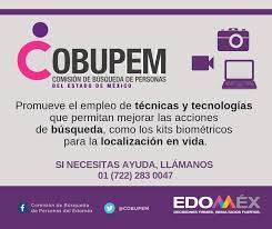 REPORTAR DE INMEDIATO A PERSONAS DESAPARECIDAS PARA PODER LOCALIZARLAS LO ANTES POSIBLE, PIDE EDO MEX