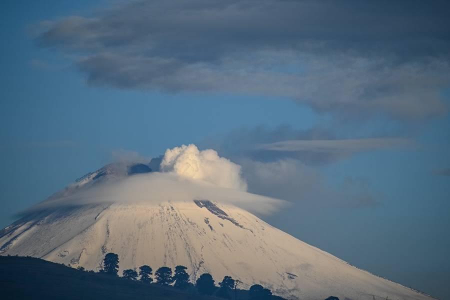 Video: Popocatépetl presenta exhalación de baja intensidad