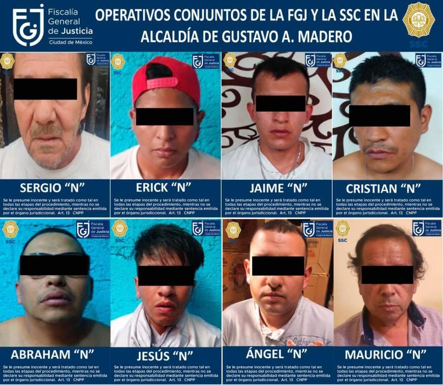3 cateos en la CDMX por narcotráfico deja 8 detenidos