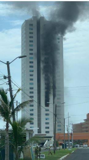 Incendio en torre departamental en Boca del Río, Veracruz