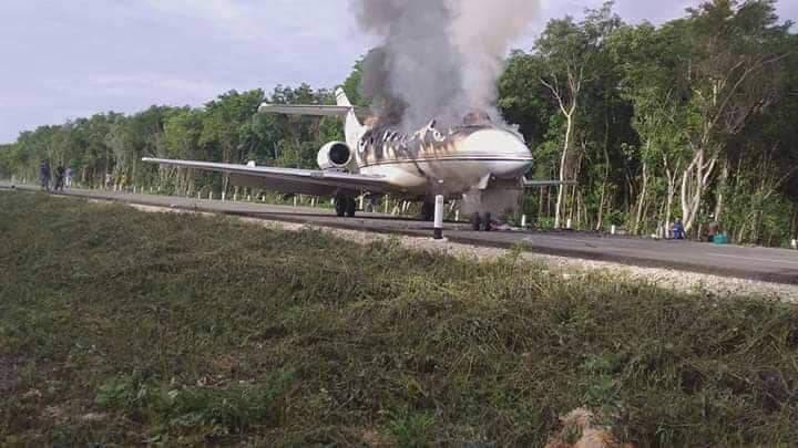 Revelan que avioneta que se estrello en Quintana Roo llevaba 300 kg de cocina