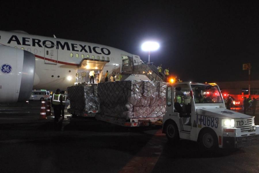 Llegan 88 ventiladores para atender covid-19 en vuelo 23 de China