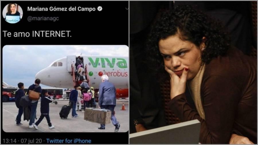 Tunden a Gómez del Campo por compartir imagen clasista de AMLO
