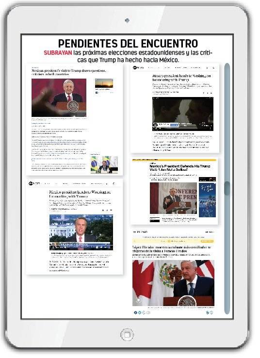 Medios del mundo siguen visita de AMLO a Trump