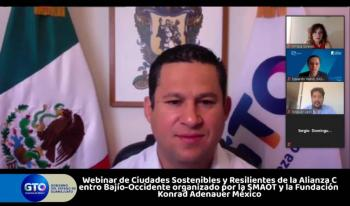 Gobernador Diego Sinhue inaugura Webinar Ciudades Sostenibles y Resilientes