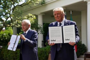 FIRMAN DECLARACIÓN CONJUNTA DE AMISTAD Y COOPERACIÓN BILATERAL PRESIDENTES DE MÉXICO Y ESTADOS UNIDOS