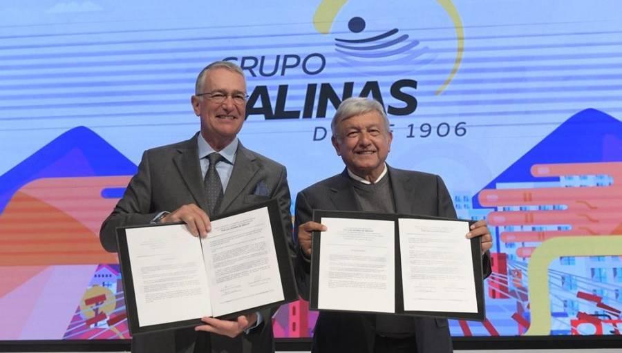 Agradece Salinas pliego invitación de AMLO a Estados Unidos