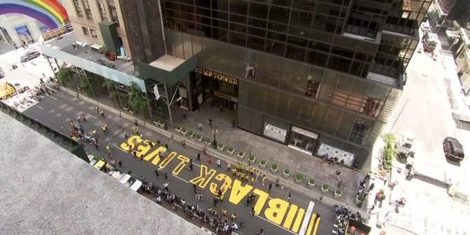 Alcalde, trabajadores y ciudadanos de NY pintan