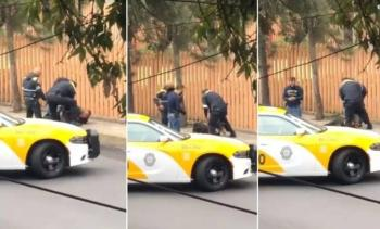 Responde SSC a video de presunto abuso policial