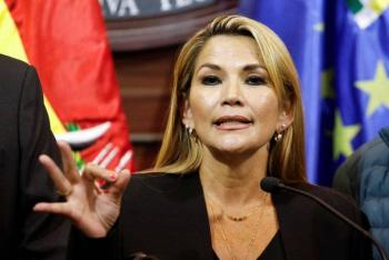 Jeanine Áñez, presidenta interina de Bolivia, da positivo a Covid-19
