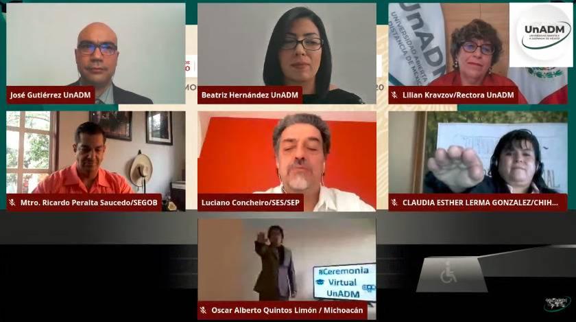 Toma SEP toma de protesta virtual a mil 450 egresados de la UnADM