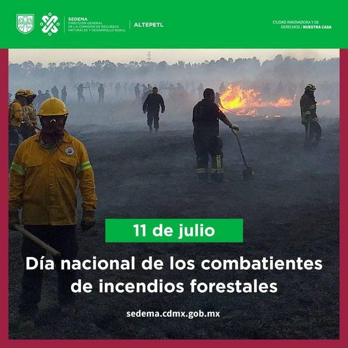 Reconoce Sheinbaum a los combatientes de incendios forestales en su día