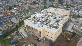 Visita Sheinbaum construcción del Hospital General de Topilejo