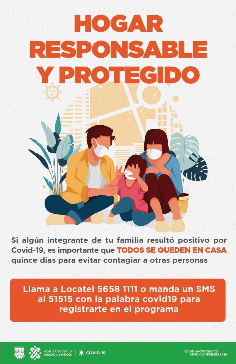 Apoya gobierno capitalino a hogares en caso de que haya contagios