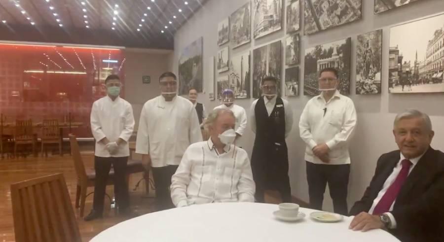 AMLO agradece a dueño del Cardenal por no despedir trabajadores en tiempos de Covid