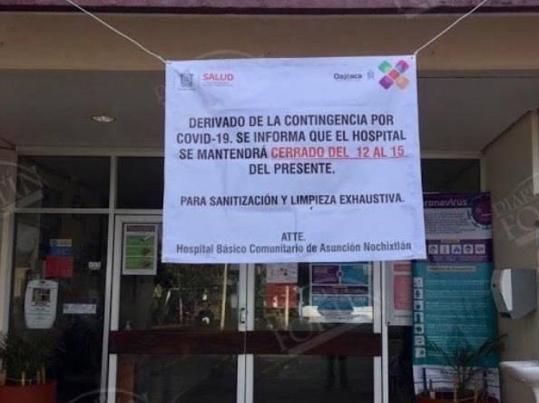 Oaxaca reporta Covid-19 en trabajadores del hospital de Nochixtlán