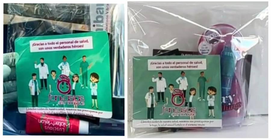 Agradecen a enfermeras que combaten al Covid-19 con juguetes sexuales