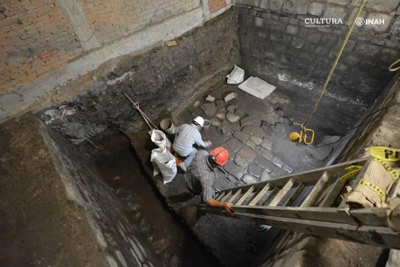 Encuentran vestigios prehispánicos bajo el Monte de Piedad de la CDMX