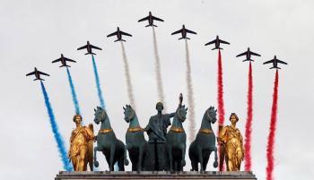 Desfile del Día Nacional en Francia se reduce por la pandemia