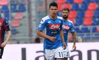 """""""Chucky"""" Lozano juega de titular en empate del Napoli ante el Bologna"""