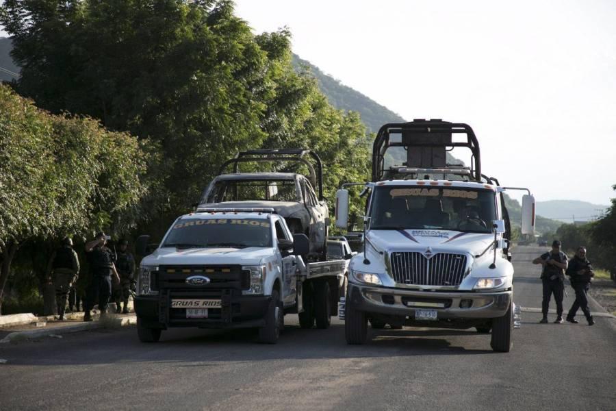 Enfrentamiento entre CJNG y Guardia Nacional deja 5 muertos en Michoacán