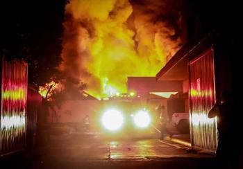 Se registra incendio en Jiutepec, Morelos