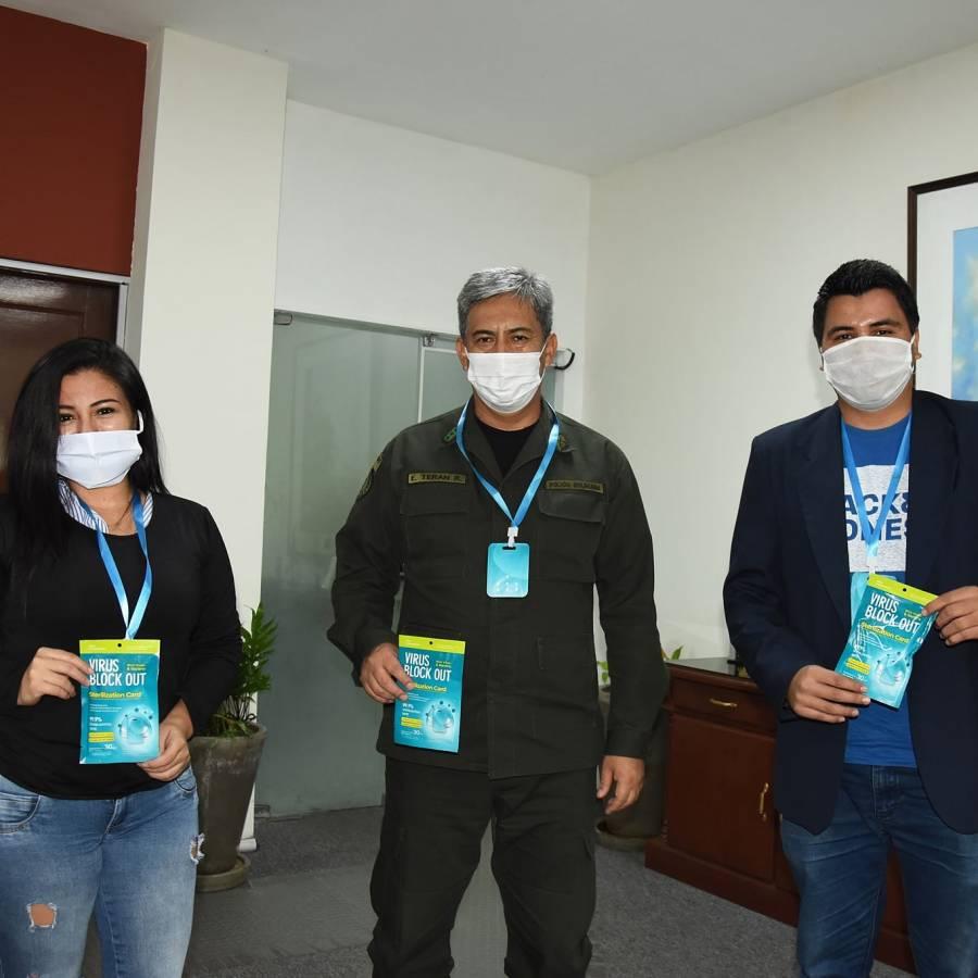 Tarjetas de dióxido de cloro que protegen contra el Covid-19 son donadas a Zapopan