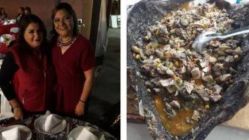 Lady Caguama: Regidora de Morena se come tortuga en peligro de extinción
