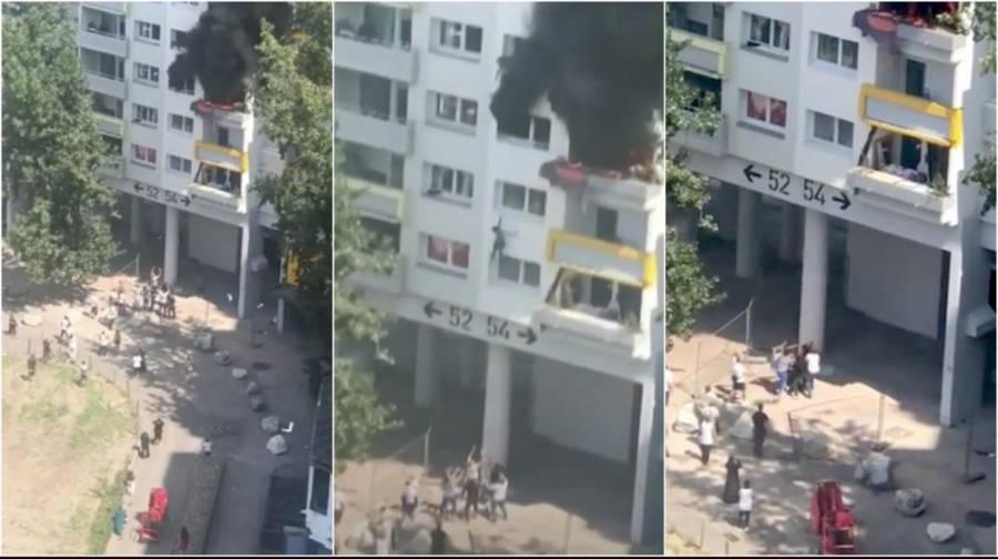 En Francia dos niños saltan de tercer piso para evitar incendio