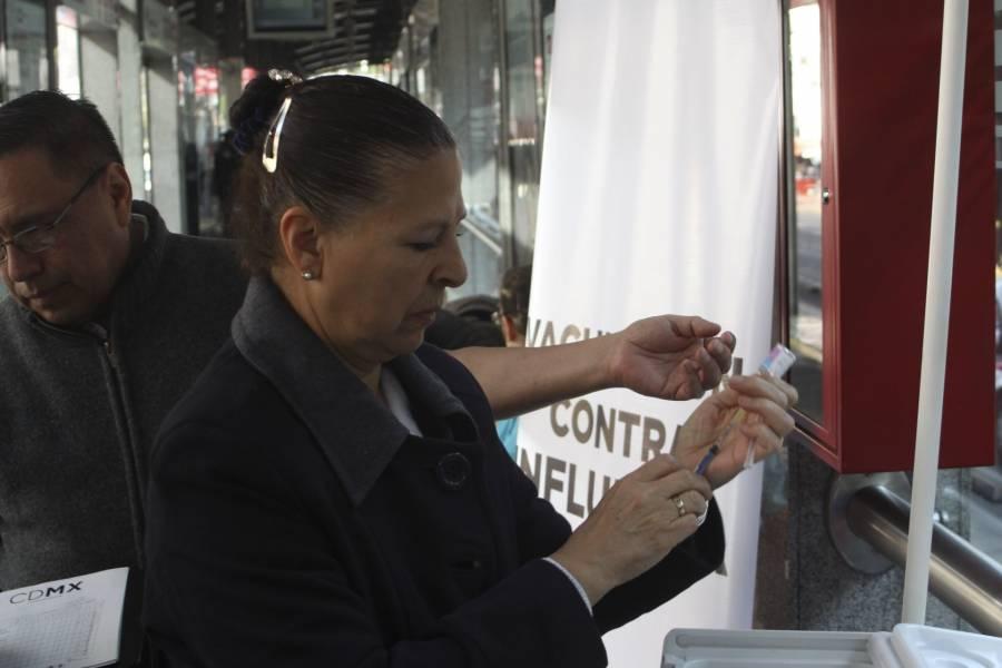 Aplicarán en la CDMX más de 1 millón de vacunas contra la influenza