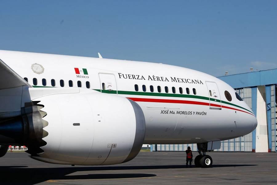 Hoy regresa el avión presidencial
