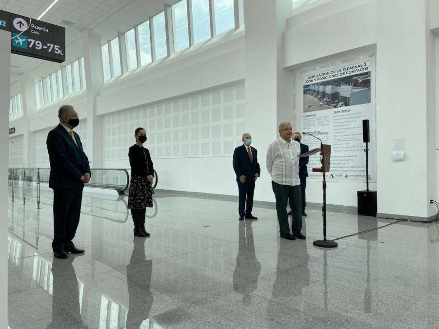 Inauguran extensión de Terminal 2 de AICM a pesar de renuncia de Jimenez Espriú