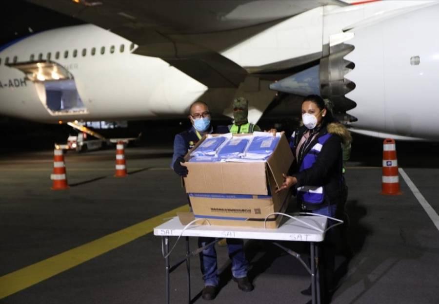Llega vuelo 25 desde China con insumos médicos