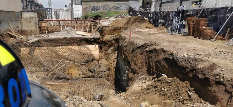 Deslizamiento de tierra en construcción de Hospital deja 4 lesionados