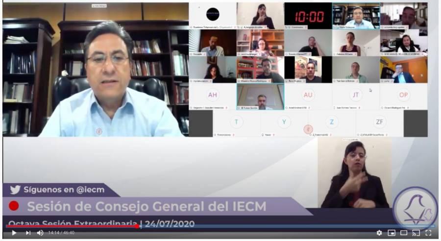 El Consejo del IECM aprueba la impugnación y quejas por medios digitales
