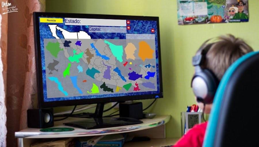 Crea universitario rompecabezas interactivo de la República Mexicana
