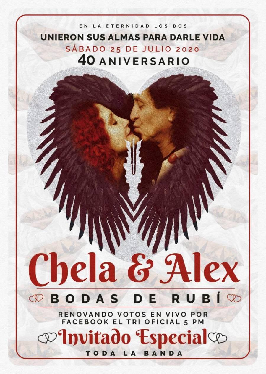 Alex y Chela Lora festejarán bodas de rubí