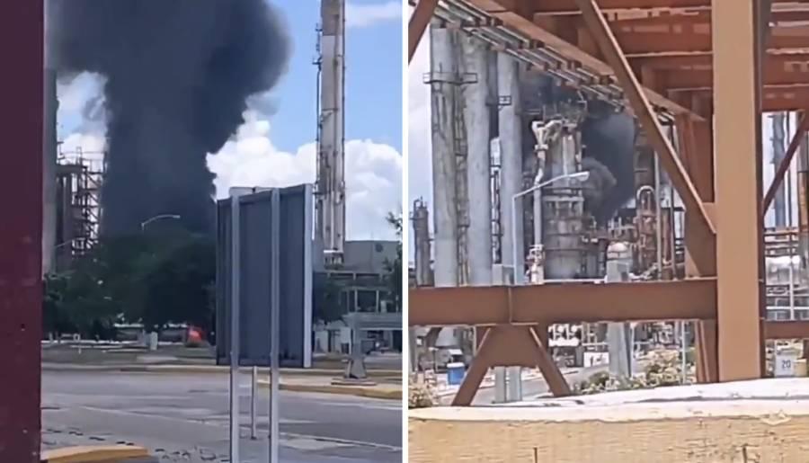 Se registra incendio en la refinería Cadereyta de Pemex, en Nuevo León
